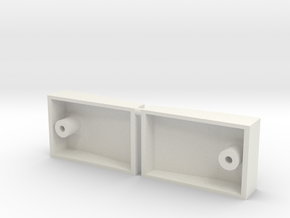 Curb Carrera 1/12 Gerade Evo Schiene in White Natural Versatile Plastic