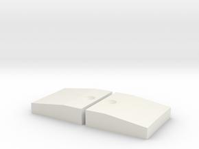 Curb Carrera K4 Evolution Digital Schiene aussen in White Natural Versatile Plastic
