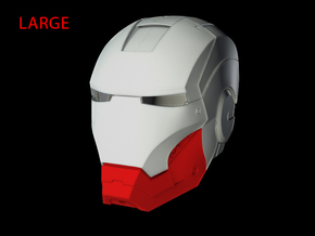 Iron Man Helmet - Jaw (Large) 4 of 4 in White Strong & Flexible