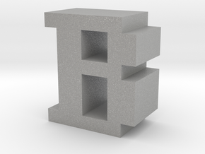 """B"" inch size NES style pixel art font block in Aluminum"