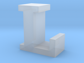 """""""L"""" inch size NES style pixel art font block in Smooth Fine Detail Plastic"""