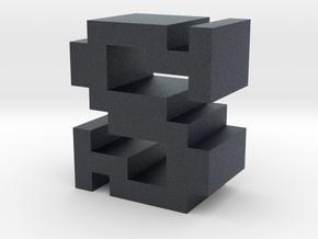 """""""S"""" inch size NES style pixel art font block in Black PA12"""