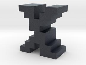 """""""X"""" inch size NES style pixel art font block in Black PA12"""