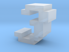 """""""3"""" inch size NES style pixel art font block in Smooth Fine Detail Plastic"""