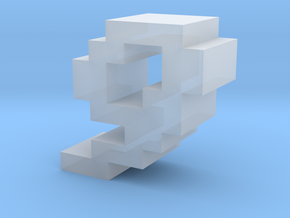 """""""9"""" inch size NES style pixel art font block in Smooth Fine Detail Plastic"""