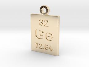 Ge Periodic Pendant in 14K Yellow Gold