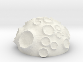 ! - Volcanic Crater Planet in White Natural Versatile Plastic