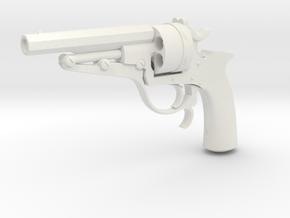 1:3 Miniature Russian Galand Revolver in White Natural Versatile Plastic