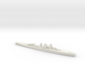 Giuseppe Garibaldi light cruiser 1:2400 WW2 in White Natural Versatile Plastic