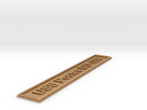 Nameplate USS Porter DD-356 in Natural Bronze