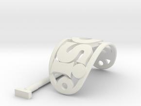 ROSI Personalized Oval Hair Stick Barrete 54x30mm in White Natural Versatile Plastic