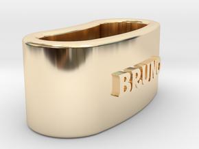 BRUNO napkin ring with lauburu in 14K Yellow Gold