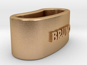 BRUNO napkin ring with lauburu in Natural Bronze