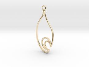 Waterdrop Moon Earring - Alternate Curve in 14K Yellow Gold