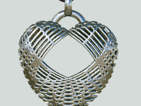 Heart Net Fini Inflate II Y40_si in Polished Silver