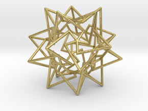 Star Dodecahedron in Natural Brass