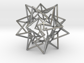 Star Dodecahedron in Natural Silver