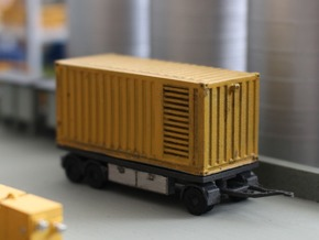 N 20ft Container Trailer 2 in Smooth Fine Detail Plastic