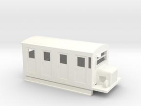 009 RAILBUS in White Processed Versatile Plastic