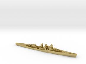 Giuseppe Garibaldi light cruiser 1:2400 WW2 in Natural Brass
