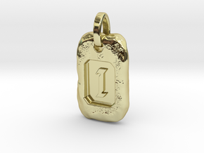 Old Gold Nugget Pendant I in 18k Gold Plated Brass