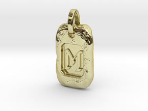 Old Gold Nugget Pendant M in 18k Gold Plated Brass