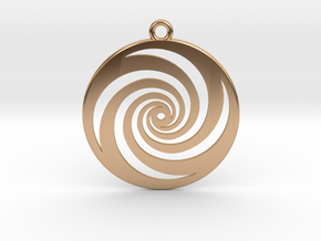 Golden Phi Spiral in Polished Bronze