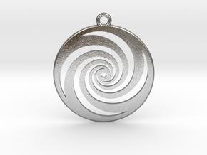 Golden Phi Spiral in Natural Silver
