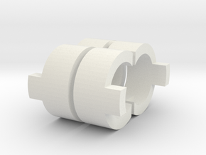 AUG C-Clip Quartet in White Natural Versatile Plastic