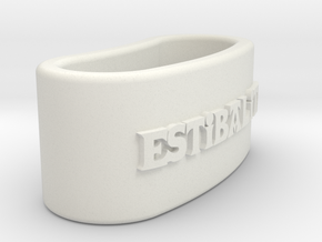 ESTIBALITZ 3D Napkin Ring with daisy in White Natural Versatile Plastic