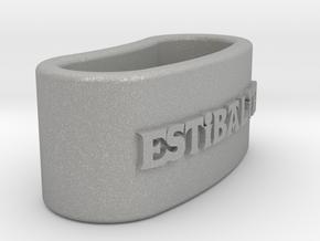 ESTIBALITZ 3D Napkin Ring with daisy in Aluminum