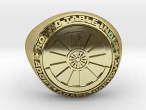 Round Table India signet ring  in 18K Yellow Gold