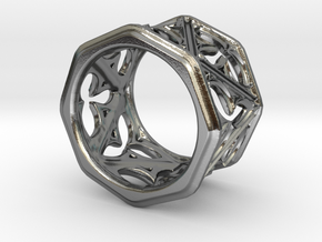 Gothic Window Ring v2 in Polished Silver