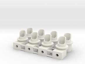 Double Dwarf 3mm Signal Housing in White Natural Versatile Plastic