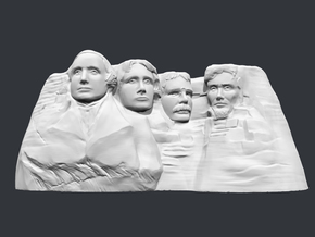 Mount Rushmore 3D Print in White Natural Versatile Plastic