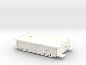 O scale 23 Ton Box Cab Standard Gauge Frame in White Processed Versatile Plastic