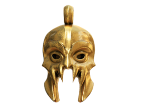 DOTA 2 - Morbid Mask Pendant in Polished Brass