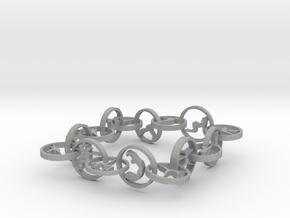 bracelet with 16 yoga poses (6) in Aluminum