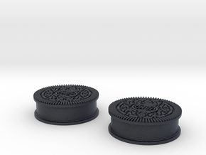 Oreo Cookie earring plugs in Black Professional Plastic