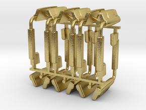 (6) 2019 & NEWER POWER ADJUST MIRROR SETS - BR in Natural Brass