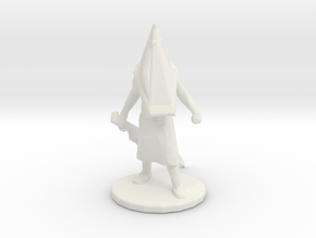 Silent Hill Pyramid Head 1/60 miniature fantasy rp in White Natural Versatile Plastic