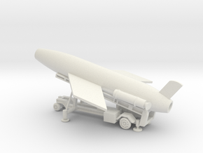 1/128 Scale MK4 Regulus Missile Launcher with Miss in White Natural Versatile Plastic