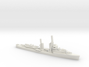 US Mahan-class Destroyer in White Natural Versatile Plastic