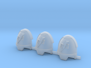 Lightning Warriors Gravus pads x3 R in Smooth Fine Detail Plastic