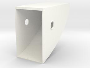 1.4 HUGHES 500D COCKPIT (A) in White Processed Versatile Plastic