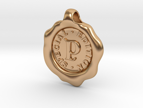 Seal Pendant P in Polished Bronze