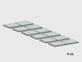 Sidewalk-2 Segments (8 ea.) in White Natural Versatile Plastic: 1:87 - HO