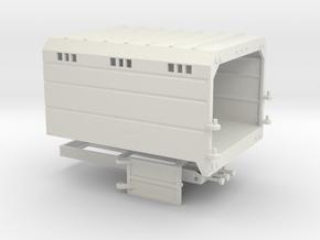 1/64th Chipper Truck Straight Dump Box Body in White Natural Versatile Plastic