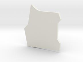 Mando'a Beskargam Reknikare - Left breastplate  in White Natural Versatile Plastic