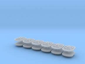 12 Maueranker rechteckig 1:45 (Spur 0) in Smooth Fine Detail Plastic